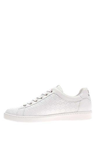 Noir jardins Femme Sneaker p615274d-707Sneaker cuir Presse Bianco