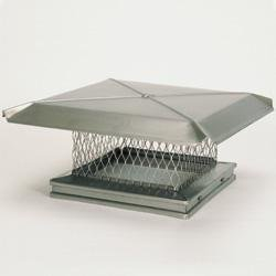 Chimney 13111 Gelco Stainless Steel Chimney Cap - 17 Inches x 17 Inches by Copperfield Chimney Supply