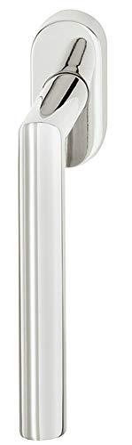 Drehkipp-Fenstergriff Edelstahl Fensterolive Form WH2171 | Fenster-Olive mit 90°-Rasterung für Drehkippfenster | Edelstahl matt gebürstet | Drehkipp-Rasterolive ohne Schließzylinder | 1 Stück
