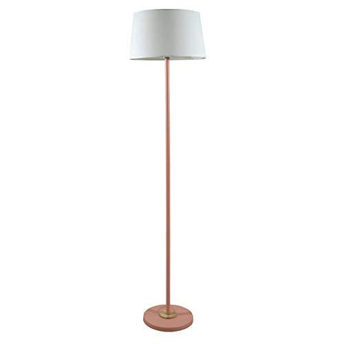 Lámpara de pie del paño de la Moda, lámpara Minimalista Moderna Moderna del Dormitorio de la Sala de Estar del Estudio, lámpara de pie casera de la decoración (Color : Rosado)