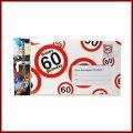 60.Geburtstag Deko XXL Umschlag für Geldgeschenke oder Gutscheine zum 60.Geburtstag Geburtstagskarte zum 60.Geburtstag