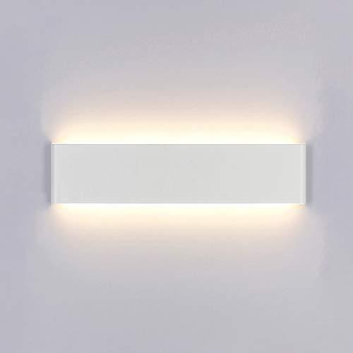 Yafido Applique Murale Interieur LED 14W 3000K Lampe Murale Blanc Chaud Moderne AC 220V pour Chambre Salon Escalier Couloir Acrylique 40CM
