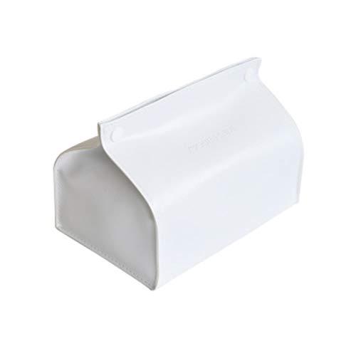 Ofliery Nordische kreative Moderne minimalistische Esstisch Tissue Box Zuhause Wohnzimmer europäischen Stil Ablage Tablett (Color : D33-White)