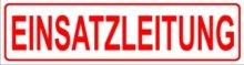 ild Einsatzleitung 45 x 12 cm - Magnetfolie für Auto/LKW/Truck/Baustelle/Firma ()