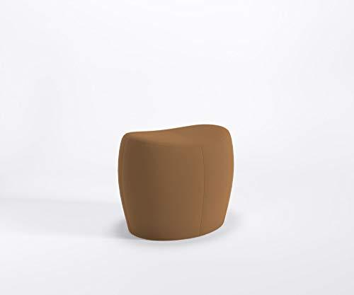 Designer Sitzpouf Only Lounge Pouf Hocker Fußstütze Kunstlederbezug Valencia, Farbe:V0002 - Cognac