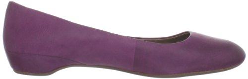 Ecco Mary Femmes Cuir Chaussure Plate Aubergine