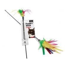 feath 'R' Stick Dangling Katzenspielzeug in Multi -