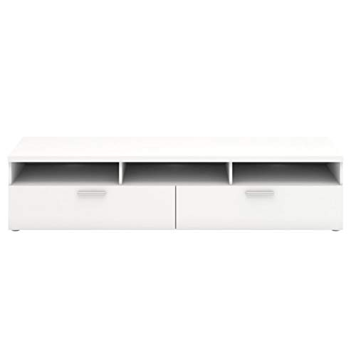 PKline TV-Board Nadja TV-Lowboard weiß Lowboard Phono Schrank Kommode Fernsehtisch