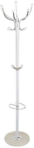 Haku möbel 88391 attaccapanni in acciaio/marmo cromato/bianco 176 cm