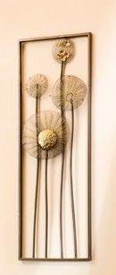 GILDE Wandrelief Blume antik (30x90cm)