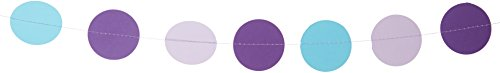 ekoration, Violett, Lila, Blau Türkis–Geburtstag Dekoration–Papier Girlande–Kinderzimmer–Kinder Room Decor–Kreise Girlande (Lila Und Gold-baby-dusche)