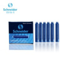 Schneider Blue Fountain Pen Ink Cartridges 6pcs (set of 20)  available at amazon for Rs.360