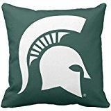Michigan State University Spartan Helmet Logo Throw pillow case 16*16