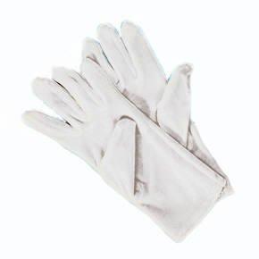 Handschuhe Herrengröße, Baumwolle, (Kostüm Chauffeur Weiße)