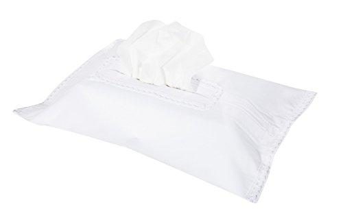 Vizaro - HÜLLE für Baby Feuchttücherbox/Pflegetücher/Mäpchen - der Handtücherschachtel - 100{9b30f29521fdb6eefebf01767f0d26325f23c1a42db59c6b171472508cd42035} BAUMWOLE - Hergestellt in der EU - SICHERES PRODUKT - K. Weiße Stickerei