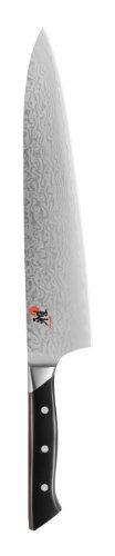 Miyabi 600D Gyutoh Kochmesser (270 mm Klingen, CMV60 Stahl, Damast-Design, 65 Lagen, Griff genietet, Vollerl, Kunststoff-Schalen) schwarz