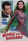 Rings on Her Fingers (DVD) Gene Tierney, Henry Fonda