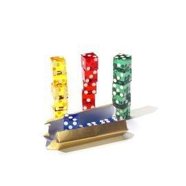 Dice Stacking 5 Casino Würfel,Farblich sortiert - Stacking-würfel