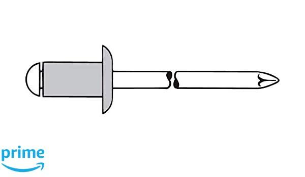 500 Standard Blindnieten 4,8x20 Alu//Stahl Flachkopf