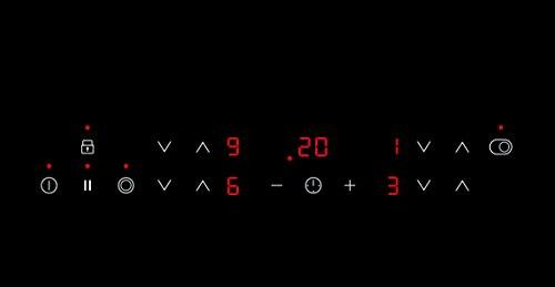 AEG HK 634060 X-B Glaskeramikfeld Elektro/Glaskeramik Kochfeld / 57,6 cm/autarkes Kochfeld mit Mehrkreiszone und Ankochautomatik/schwarz und silber (Edelstahl)