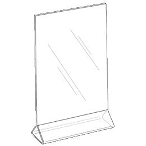 5x7 Top Load Sign Holder- 12 Pack Clear Acrylic Top Loading Sign Holder- Table Card Display-Upright Menu Frame- You will receive 12 Holders In 1 Box by Marketing Holders