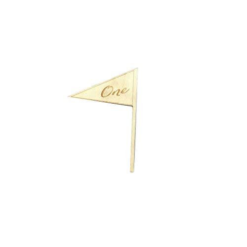 (Topker 10PCS Elegante eins bis zehn Romantische Holz Hochzeit Party Supplies-Platz-Halter Flaggen-Tabellen-Zahl-Zahl Karte Sitz Crafts)