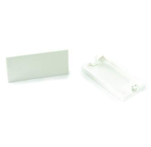 CDL Micro 2 x Cat5e / Cat6 Keystone Jack/Blende Euromod Halbblende, Weiß -