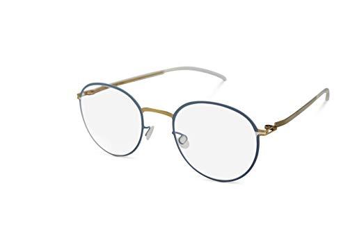 Mykita Brille Brillenfassung JAIS 236 Shiny Gold/Blue Grey (48-20)