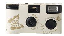 Hochzeitskamera - Einwegkamera zur Hochzeit - Ivory - creme Schmetterling - Spaßbider garantiert!