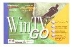 Hauppauge WinTV GO - TV tuner video input adapter - PCI