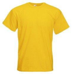 Fruit of the Loom T-shirt à manches courtes pour homme Uni - Jaune - sunflower - moyen