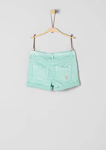 s.Oliver RED Label Junior Mädchen Skinny Suri: Shorts mit Glitzergürtel Mint 158.Big - Junior Mädchen Short