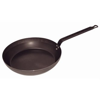 Vogue Black Iron Fry Pan 14In Frying Kitchen Cookware Induction Heavy Duty