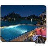 jacuzzi-pool-at-night-time-bora-bora-polynesia-mouse-pad-mousepad-beaches-mouse-pad