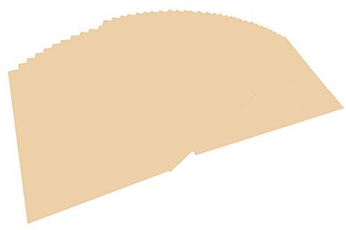folia 6410 - Tonpapier chamois, DIN A4, 130 g/qm, 100 Blatt - zum Basteln und kreativen Gestalten von Karten, Fensterbildern und für Scrapbooking