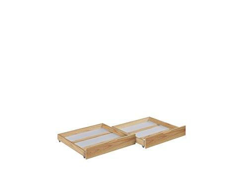 2 Schubladen-set Etagenbett (Lilokids Schubladen Set von 2 - für Etagenbett JELLE - natur -)