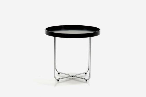 ABC home Table d'appoint de style scandinave Noir