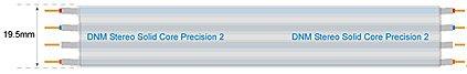 DNM LPC2 Precision 2 Lautsprecher-Kabel single core stereo pro m
