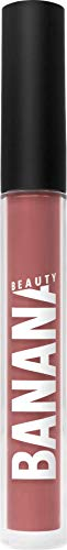 Banana Beauty Lady Licious (3 ml) - Semi Matte Liquid Lipstick - kussechter Lippenstift matt für volle Lippen - veganer Lipgloss matt - bräunlicher Rosa-Ton -