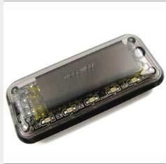 Solarbetriebene Dummy Auto Alarm LED Licht 6LED Auto Solar Ladegerät Auto Alarmanlage Lampe Sicherheit Warnung Anti-Dieb blinkende Lampe,Bluelight,NewStyle