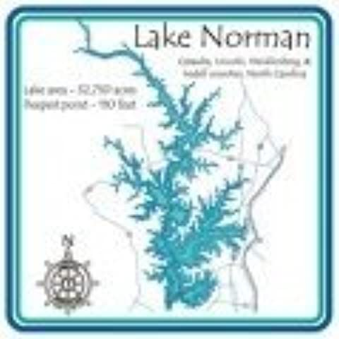 Lake Norman-Entire 4.25 Square Absorbent Coaster by CoasterStone