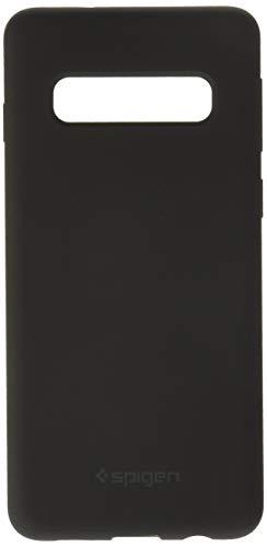 Spigen 605CS25818 Silicone Fit Kompatibel mit Samsung Galaxy S10 Hülle, Silikon mit weichem Wildleder, Schwarz Fit Silikon