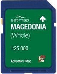 Satmap mapcard: Mazedonien Adventure Karte 25K