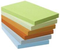 Post-It 21860 Foglietti Adesivi, Box da 6 Blocchetti, Carta Riciclata al 100%, 127 mm x 76 mm, Multicolore