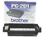 Generic Compatible Thermal Transfer Fax Print Cartridge for Brother PC-201 PC201, 450 Pages, Black by
