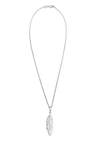 Elli - Collier court - Plume - Argent 925 - 45 cm Argenté