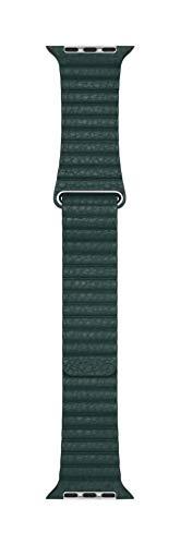 Apple Watch (44mm) Lederarmband mit Schlaufe, Waldgrün - Large - Apple Sportarmband