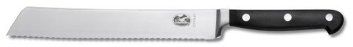 Victorinox Küchenmesser Brotmesser geschmiedet Wellenschliff 21 cm, 7.7173.21