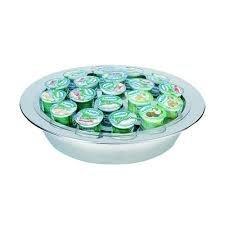 Espositore rotondo refrigerato per 19 vasetti yogurt (compreso di mattonelle refrigeranti), hotel bar ristorante
