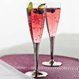 Sabert 100 flûtes à Champagne jetables plastique avec pied argenté